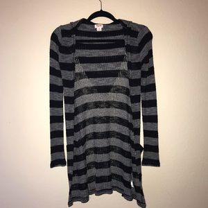 Mossimo Striped Knit Long Cardigan